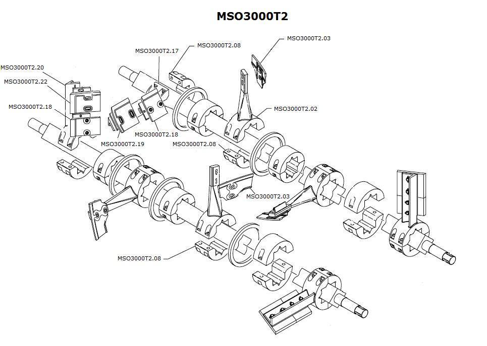 Simem interchangeable wear parts for mixers. MSO3000