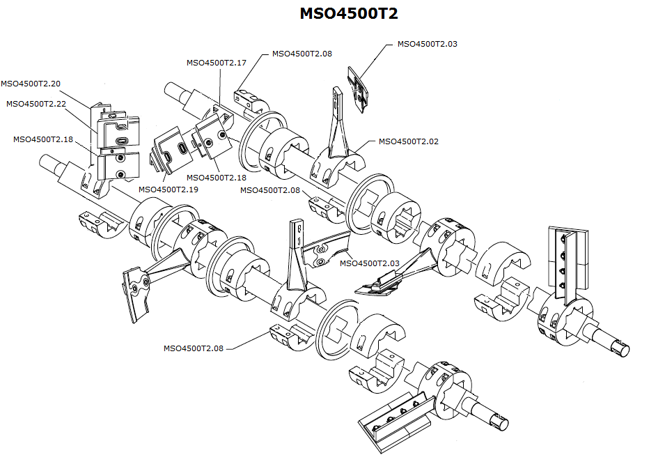 Simem interchangeable wear parts for mixers. MSO4500