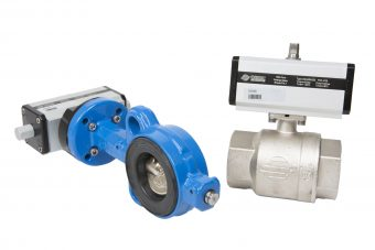 Wafer-type valves and ball valves